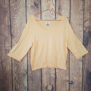 Old Navy peach 3/4 sleeve top size M